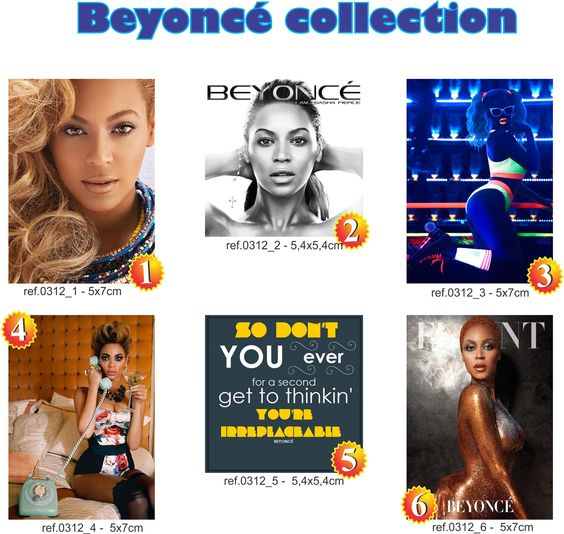 Beyoncé 6 peças 5x7 cm foto, capa cd, art pop, posters  e letra