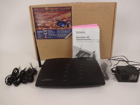 EnGenius DuraFon 4X Quad 4-Line SYSTEM PRO SERIES BASE AC ADAPTOR Box Manuals #EnGenius