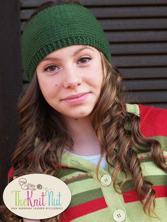Knitted Headband, green Headband, Knit Head Wrap, Knitted Ear Warmer, Knit Hat Hair Wrap - pinned by pin4etsy.com