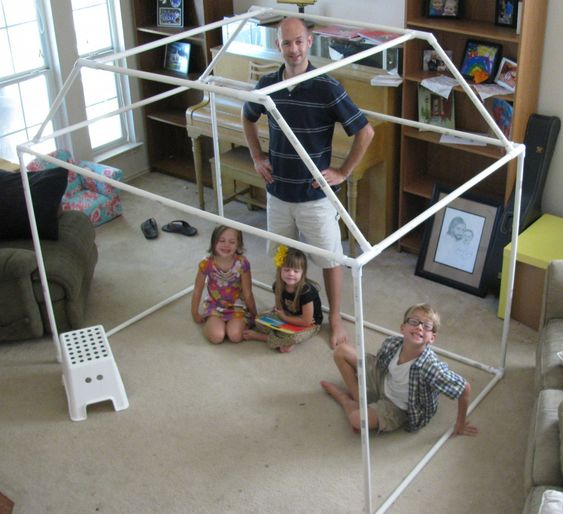 Diy pvc fort gave this as a xmas gift to my niece and for Pvc playhouse kit