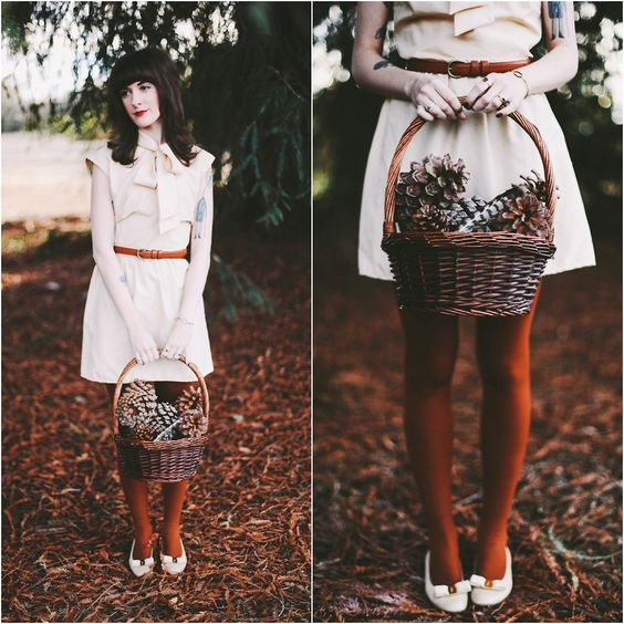 Kiana McCourt - Vintage Dress, Salvatore Ferragamo Shoes - Through the Woods