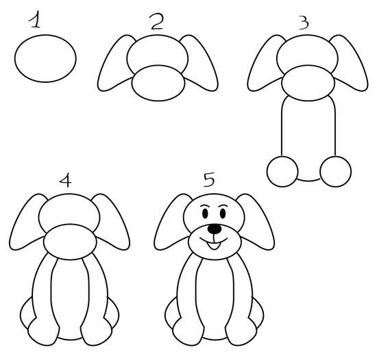 Comment Dessiner Un Chien Como Dibujar Un Perro Perritos Para Dibujar Bebes Para Dibujar