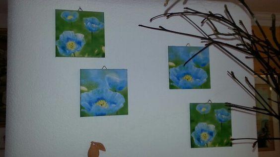 Serviettentechnik Bilder Blumen