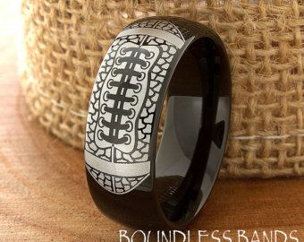Conception de tatouage de bague tungstène Mens par BoundlessBands