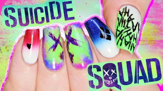 Suicide Squad Nail Art Tutorial coz I'M BORED PLAY WITH ME