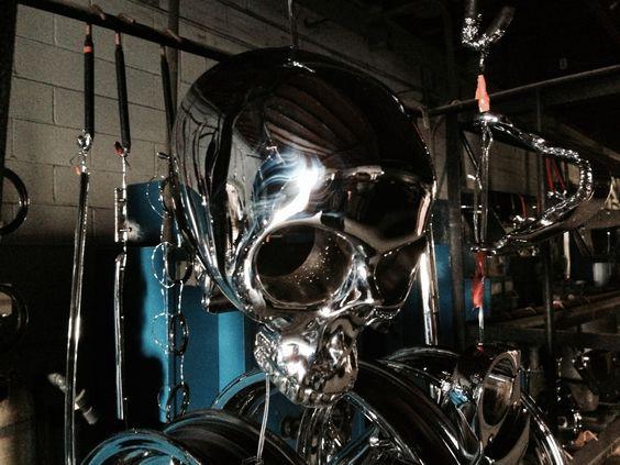 Chrome Plated Skull!