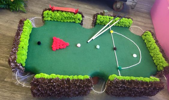 Snooker Table by Floral Boutique