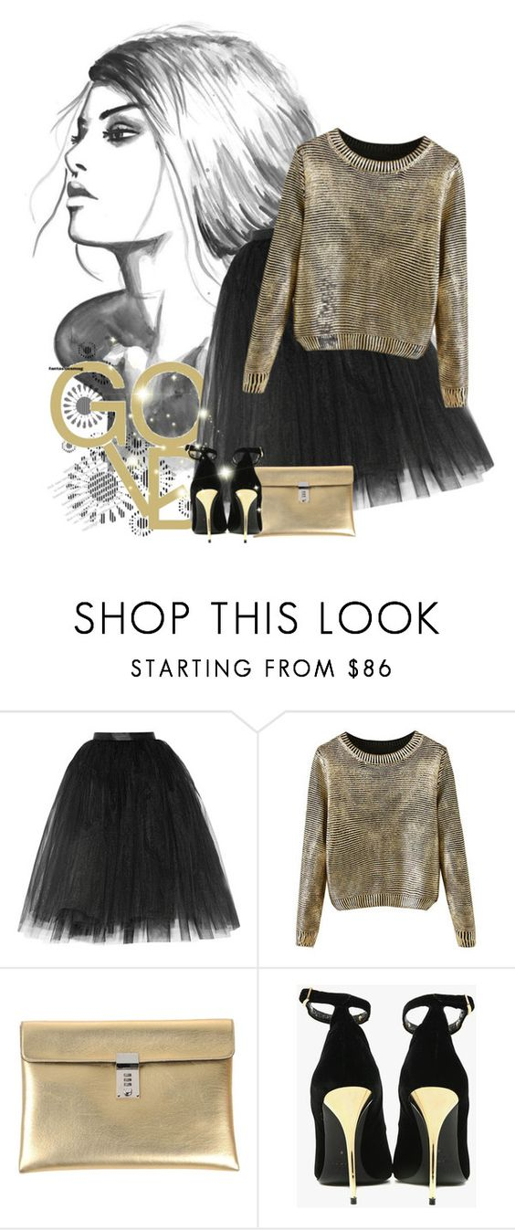 GOLD by irina-balerina0909 on Polyvore featuring мода, Ballet Beautiful, Balmain and Golden Goose