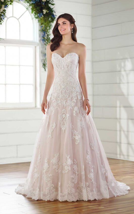 Sparkling A Line Lace Wedding Gown In 2019 Essense Of