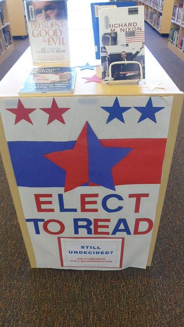 Elect to Read library display by Colette Cassinelli, via Flickr