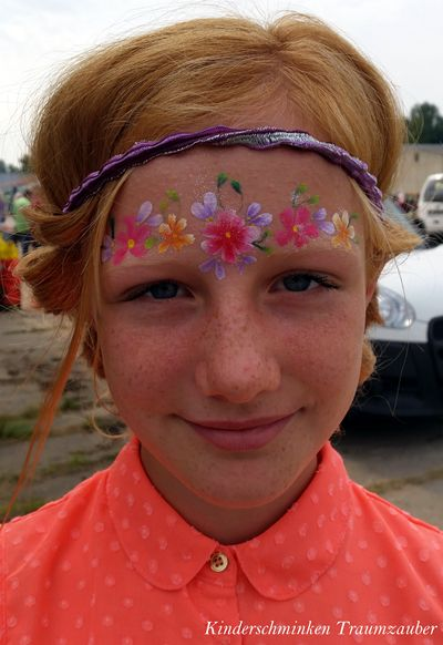 Blumen Kopfschmuck by Kinderschminken Traumzauber