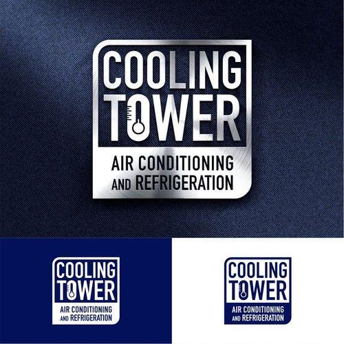 Cooling Tower Ac Nuke The Ac Design Contest Air Conditioning Installation Maintenance Service Repair And Branding Design Logo Contest Design Modern Logo