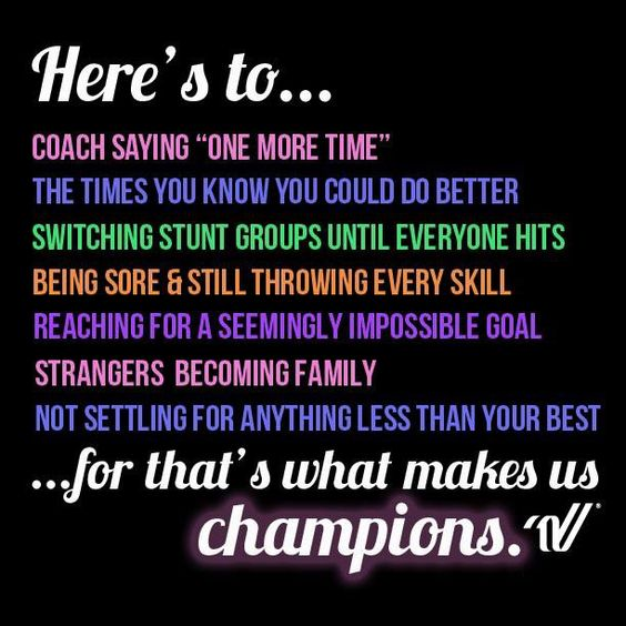 Love this motivational cheerleading quote from Varsity