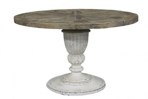 Perfect for our breakfast nook. Chelsea Round Table. A Block and Chisel Product.