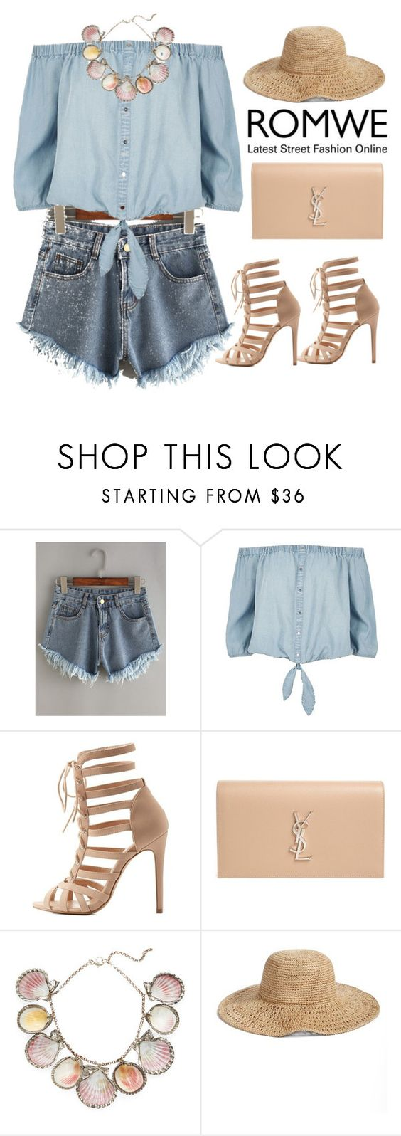 """""""Romwe contest"""" by hungry-unicorn ❤ liked on Polyvore featuring River Island, Charlotte Russe, Yves Saint Laurent, Paolo Costagli and Nordstrom"""