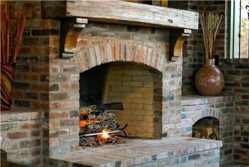 Fire Place Design Concepts For An Elegant Exterior Space Rustic