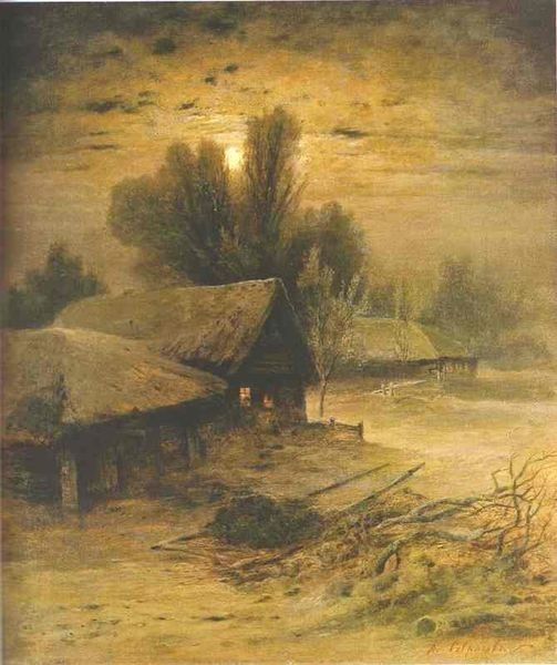 Alexei Savrasov~Winter Night 1869: