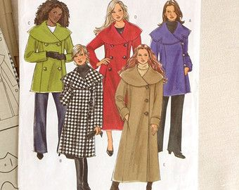 Womens Winter Coat Pattern Womens Plus Size Petite Coat Pattern