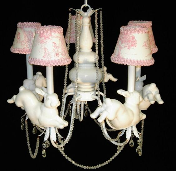 Bunny Nursery Chandelier Child Light Kid's Ceiling Fixture