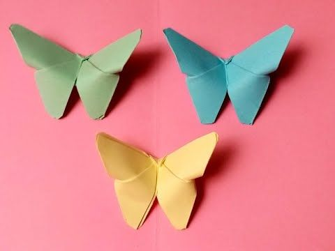 Origami Paper Craft How To Make Butterfly With Paper How To Make Butterfly Paper Crafts Origami Paper