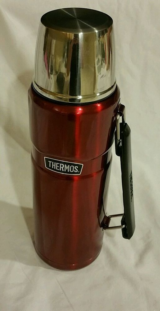 Thermos Stainless Steel King 40 oz Bottle Cranberry Red | eBay