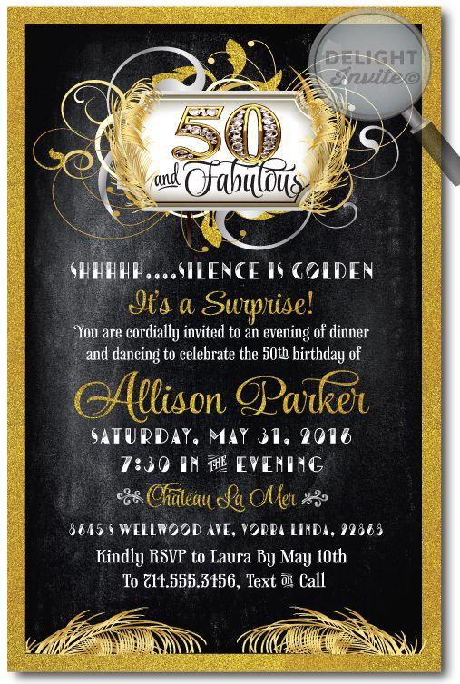 50th birthday invites