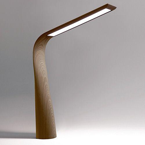Moonbird - a luxurious LED desk lamp in walnut or wenge | lighting .  Beleuchtung . luminaires | Design: Yukio Hashimoto | | Interior Design |  Pinterest ...