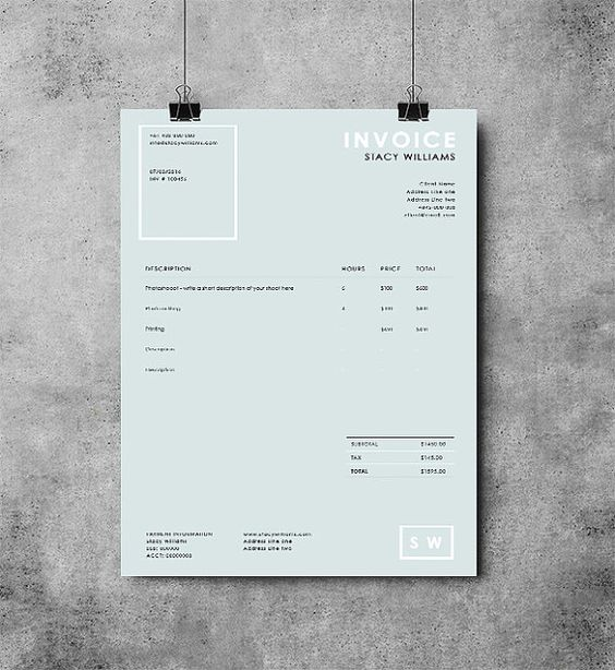 61 best images about Invoice〜bill on Pinterest Invoice template - how to make your own invoice
