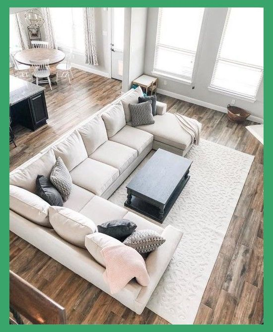 15 Large Sectional Sofas That Will Fit Perfectly Into Your Family Home Large Sectional Sofa Sectional Sofa Decor Livingroom Layout