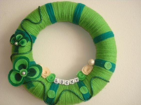 Gorgeous yarn wreath