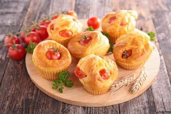 Para estes muffins a serem degustados em aperitivo ou pique-nique, a receita é fácil e rapidamente f... - Receitas sem Fronteiras