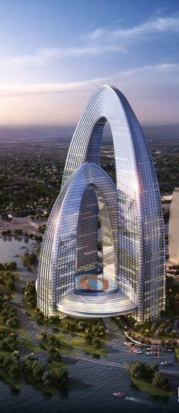 The Rainbow Gate Tower, Beijing, China by Gensler Architects :: 68 floors, height 316m #architecture k: