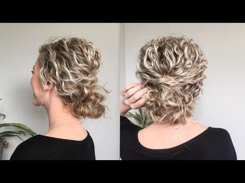 Naturally Wavy Curly Hair Updo Youtube Curly Hair Updo