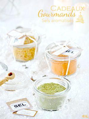 Alter Gusto   Cadeaux gourmands #3 - Sels aromatisés au piment d'Espelette ou à la sauge ou aux noisettes -