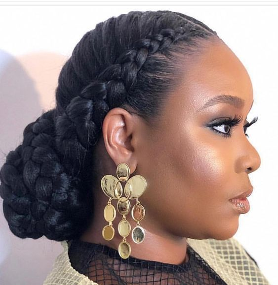 Wedding Hairstyles For Black Women Natural Low Buns 47 Ideas