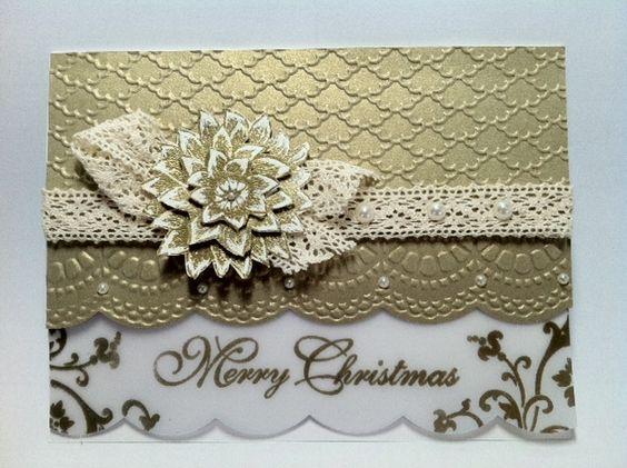 Weihnachtskarte mit Transparentpapier