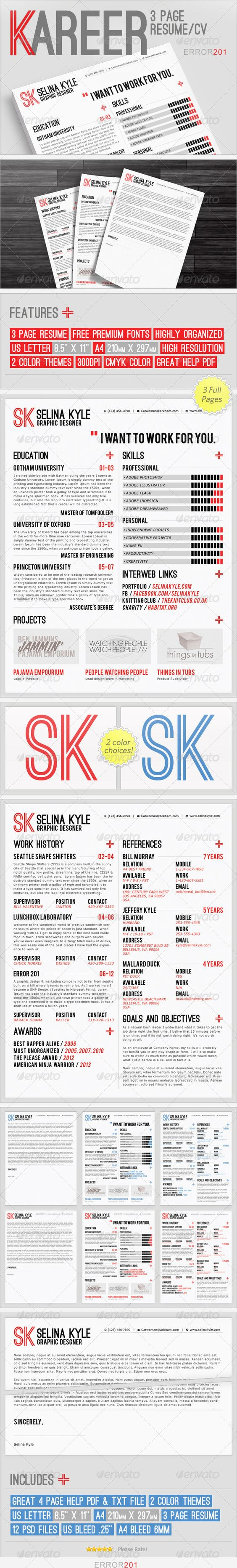 fonts colors and pro a kareer premium resume