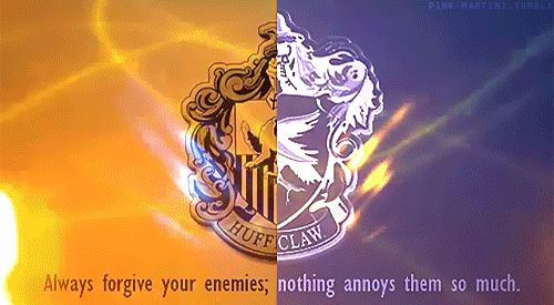 Hufflepuff=one of my best friends, Ravenclaw=me; this post is is perfect example of us together :):