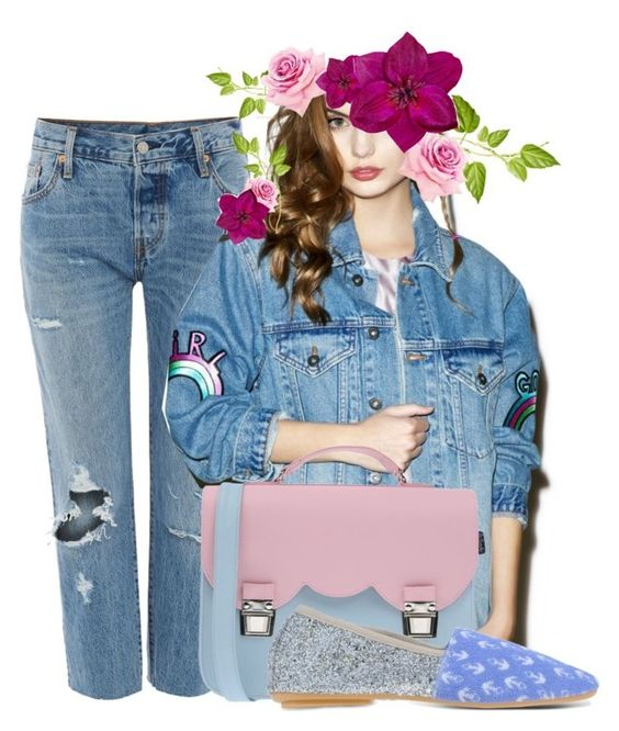 """outfit 85"" by mediaunicorn ❤ liked on Polyvore featuring Levi's, The Ragged Priest, Accessorize, La Cartella and Anniel"