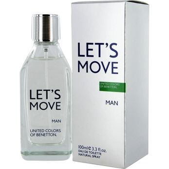Launched by the design house of Benetton in 2012, BENETTON LET'S MOVE by Benetton for Men posesses a blend of: Bergamot, Mandarin, Spicy Pepper And Earthy Cedar Wood. It is recommended for casual wear.