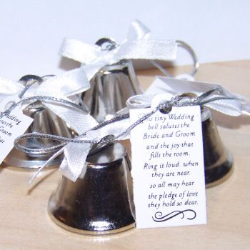 Searching For Silver Wedding Favors That Bring Music To Your Ears With These Kissing Bells Your
