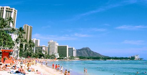 Waikiki Beach: It used to be a swamp—its name, which means 'spouting water' comes from the springs that fed the taro patches and fishponds—but Waikiki also had a two-mile crescent of sand, plenty of sunshine and perfect waves rolling into shore. So in the early days, after Honolulu became the capital of the Kingdom of Hawaii in 1845, the royalty wisely chose to build their beach homes on Waikiki.