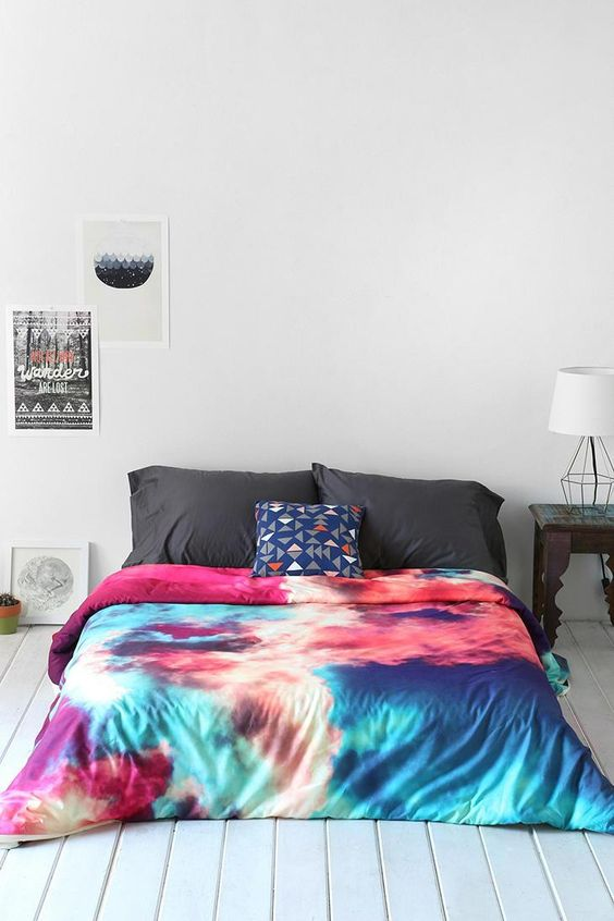 Caleb Troy For DENY Yin-Yang Painted Cloud Duvet Cover #urbanoutfitters