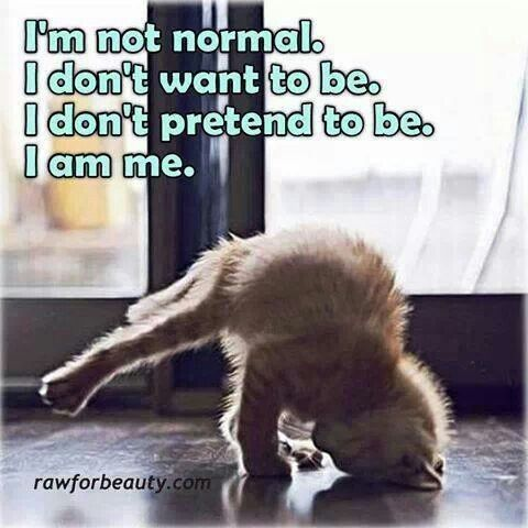 Help, I want to be normal?