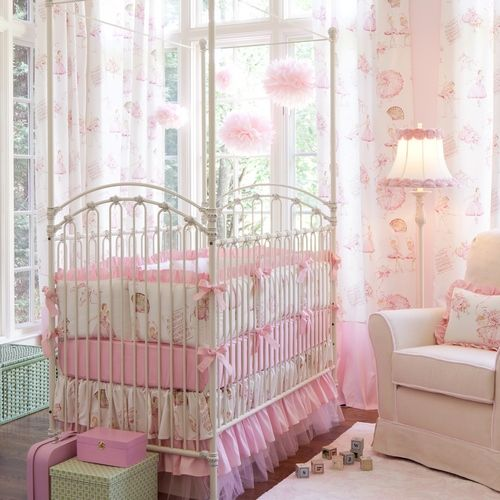 Image detail for -Royal Ballet Crib Bumper with Ruffle   Carousel Designs