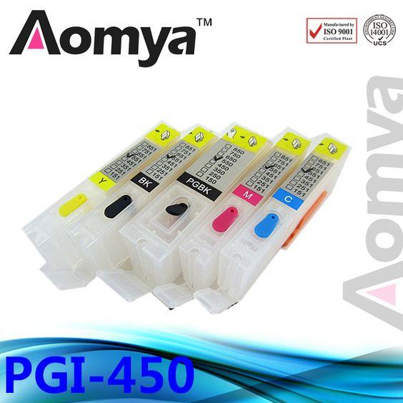 $29.89 (Buy here: http://appdeal.ru/4fao ) Full ink refillable cartridge PGI-450/CLI-451 for Canon PIXMA IP7240 MG5440 MG5540 MG6440 MG6640 MG5640 MX924 MX724 IX6840pgi450 for just $29.89