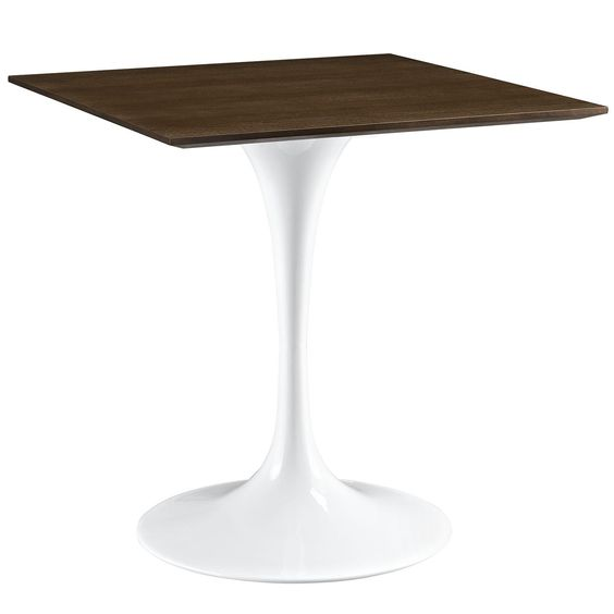 Modern Side Table With Wood Top