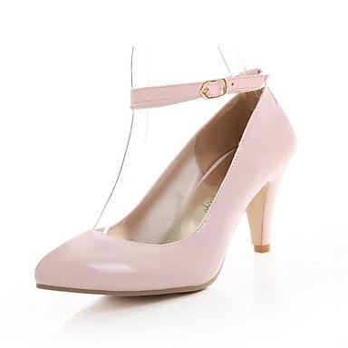 Damenschuhe - High Heels - Kleid - Kunststoff - Stöckelabsatz - Absätze / Rundeschuh - Schwarz / Rosa / Beige – EUR € 18.04