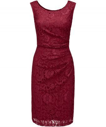"""Roll on the party season in this glamorous stretch lace dress. Side ruching creates a flattering style to complement the figure-hugging fit. So poised and sophisticated, it'll pair perfectly with heels and an elegant glass of champagne. Approx Length: 104cm Our model is: 5'7"""""""