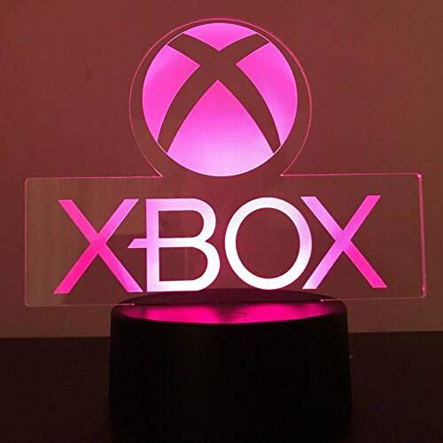 Xbox Gamer Games Logo 3d Acrylic Led 7 Couleur Night Light Table Lampe Cadeau Telecommande Neon Signs Neon Deco